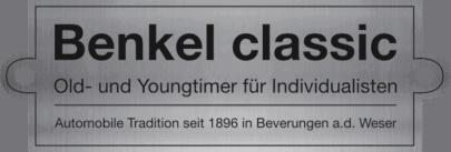 Benkel Classic Schild